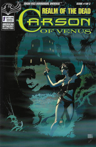 Cover for Carson of Venus: Realm of the Dead (American Mythology Productions, 2020 series) #1 [Limited Edition]
