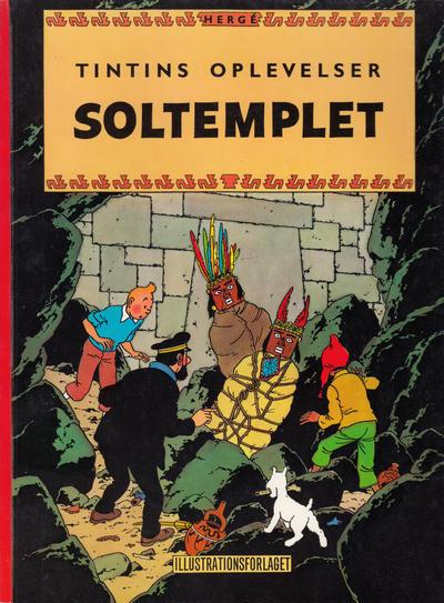 Cover for Tintins oplevelser (Illustrationsforlaget, 1960 series) #4 - Soltemplet [3. oplag]
