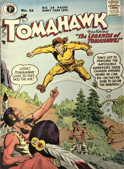Cover for Tomahawk (Thorpe & Porter, 1954 series) #26