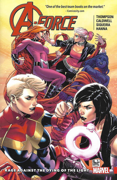 Cover for A-Force (Marvel, 2016 series) #2 - Rage Against the Dying of the Light