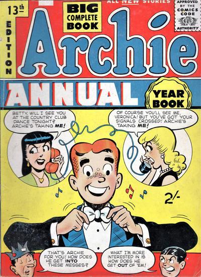 Cover for Archie Annual (Gerald G. Swan, 1950 series) #13