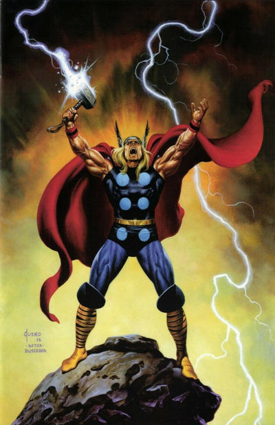 Cover for Thor (Marvel, 2020 series) #1 [Blue Variant]