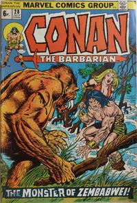 Cover Thumbnail for Conan the Barbarian (Marvel, 1970 series) #28 [British]