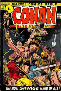 Cover Thumbnail for Conan the Barbarian (Marvel, 1970 series) #12 [British]