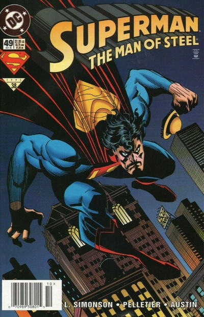 Cover for Superman: The Man of Steel (DC, 1991 series) #49 [Direct Sales]