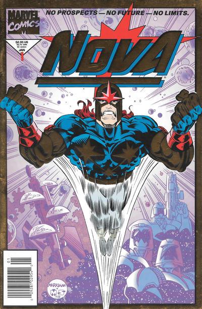Cover for Nova (Marvel, 1994 series) #1 [Newsstand Gold Foil Edition]