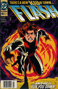 Cover Thumbnail for Flash (DC, 1987 series) #92 [Newsstand]
