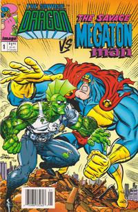 Cover Thumbnail for Savage Dragon vs. Savage Megaton Man (Image, 1993 series) #1 [Newsstand]