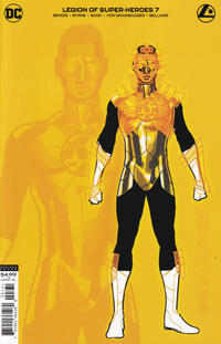 Cover Thumbnail for Legion of Super-Heroes (DC, 2020 series) #7 [Ryan Sook Gold Lantern Design Variant]