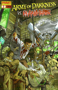 Cover Thumbnail for Army of Darkness vs. Re-Animator (Dynamite Entertainment, 2005 series) #1 [Cover A Nick Bradshaw]