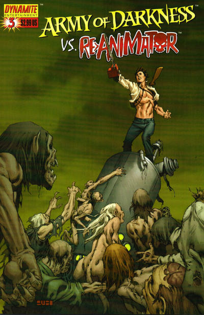Cover for Army of Darkness vs. Re-Animator (Dynamite Entertainment, 2005 series) #3 [Cover C - Mel Rubi]