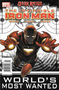 Cover Thumbnail for Invincible Iron Man (Marvel, 2008 series) #8 [Newsstand]