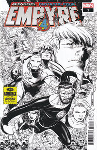 Cover Thumbnail for Empyre (Marvel, 2020 series) #1 [Black and White Variant]