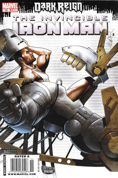 Cover for Invincible Iron Man (Marvel, 2008 series) #18 [Newsstand]
