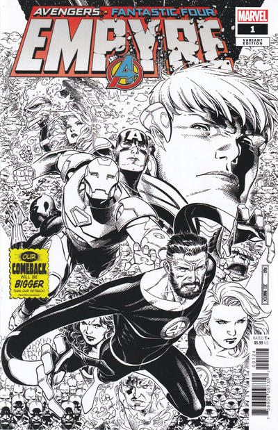 Cover for Empyre (Marvel, 2020 series) #1 [Black and White Variant]