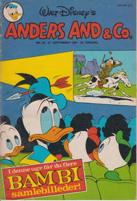 Cover Thumbnail for Anders And & Co. (Egmont, 1949 series) #39/1981