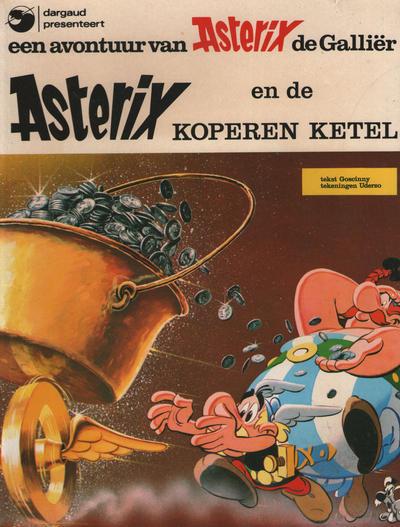 Cover for Asterix (Oberon; Dargaud Benelux, 1976 series) #8 - Asterix en de koperen ketel