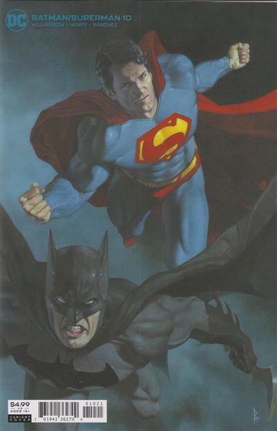 Cover for Batman / Superman (DC, 2019 series) #10 [Riccardo Federici Cardstock Variant Cover]