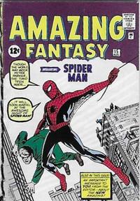 Cover Thumbnail for Komikai Micro Comics Ultimate Marvel (Spin Master, 2005 series) #[61] - Amazing Fantasy #15