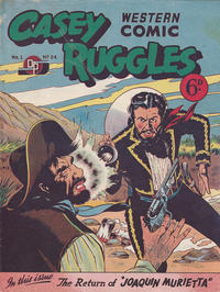 Cover Thumbnail for Casey Ruggles Western Comic (Donald F. Peters, 1951 series) #24