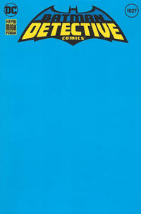 Cover Thumbnail for Detective Comics (DC, 2011 series) #1027 [Blank Variant Cover]