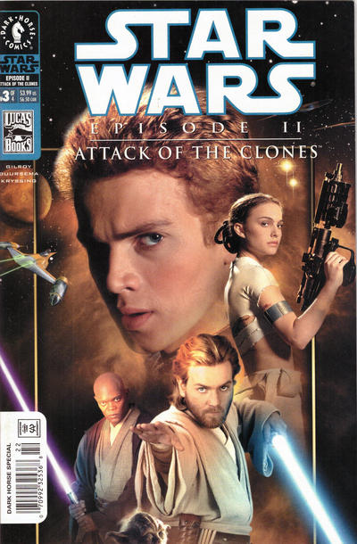 Cover for Star Wars: Episode II - Attack of the Clones (Dark Horse, 2002 series) #3 [Cover B - Photo Cover Newsstand]