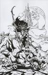 Cover Thumbnail for Dejah Thoris (2019 series) #8 [Roberto Castro Virgin Black and White FOC Bonus]