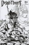 Cover Thumbnail for Dejah Thoris (2019 series) #8 [Roberto Castro Black and White FOC Bonus Cover]