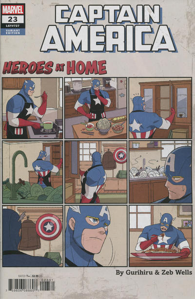 Cover for Captain America (Marvel, 2018 series) #23 (727) [Heroes at Home Variant]