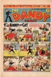 Cover Thumbnail for The Dandy Comic (D.C. Thomson, 1937 series) #275