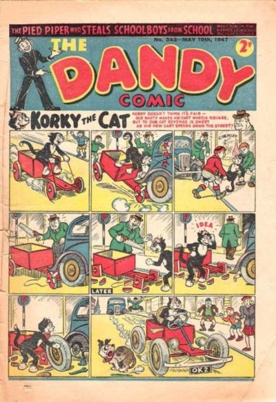 Cover for The Dandy Comic (D.C. Thomson, 1937 series) #343