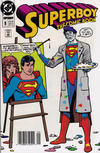 Cover for Superboy (DC, 1990 series) #8 [Newsstand]