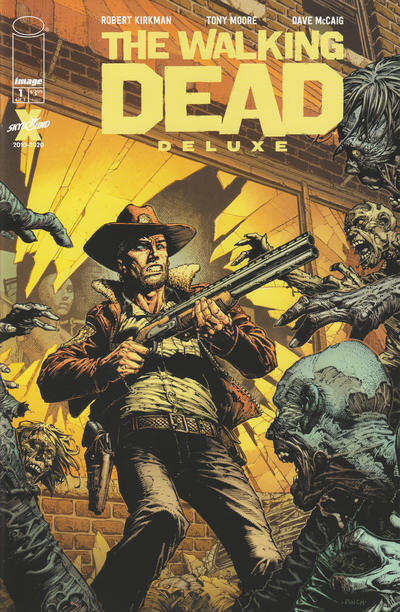 Cover for The Walking Dead Deluxe (Image, 2020 series) #1 [Arthur Adams & Dave McCaig Cover]