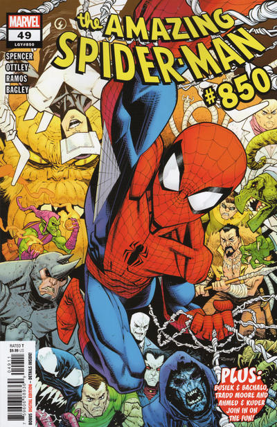 Cover for Amazing Spider-Man (Marvel, 2018 series) #49 (850) [Variant Edition - Chris Bachalo Cover]