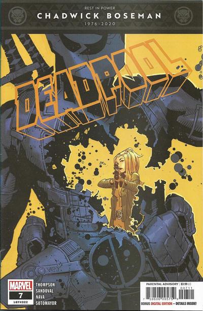 Cover for Deadpool (Marvel, 2020 series) #7 (322)