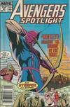 Cover for Avengers Spotlight (Marvel, 1989 series) #21 [Newsstand]