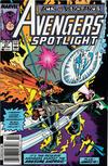 Cover for Avengers Spotlight (Marvel, 1989 series) #27 [Newsstand]