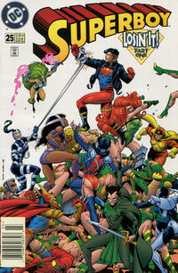 Cover Thumbnail for Superboy (DC, 1994 series) #25 [Newsstand]
