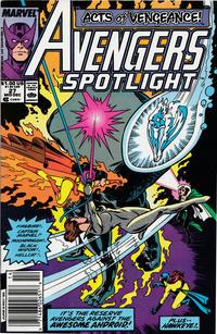 Cover Thumbnail for Avengers Spotlight (Marvel, 1989 series) #27 [Newsstand]