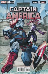 Cover Thumbnail for Captain America (Marvel, 2018 series) #24 (728) [Ed McGuinness Fortnite Variant]