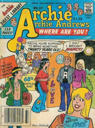 Cover for Archie... Archie Andrews, Where Are You? Comics Digest Magazine (Archie, 1977 series) #37