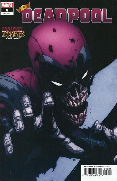 Cover for Deadpool (Marvel, 2020 series) #6 (321) [Khoi Pham 'Marvel Zombies']