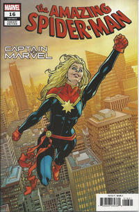 Cover Thumbnail for Amazing Spider-Man (Marvel, 2018 series) #16 (817) [Variant Edition - Captain Marvel - Mike Hawthorne Cover]