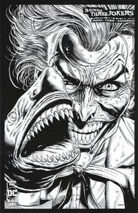 Cover Thumbnail for Batman: Three Jokers (DC, 2020 series) #1 [Jason Fabok Second Printing Black and White Joker Shark Variant Cover]