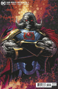 Cover Thumbnail for Dark Nights: Death Metal (DC, 2020 series) #4 [David Finch Darkseid Variant Cover]