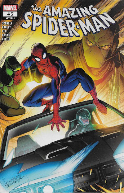 Cover for Amazing Spider-Man (Marvel, 2018 series) #45 (846) [Mark Bagley Cover]