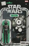 Cover for Star Wars: Bounty Hunters (Marvel, 2020 series) #6 [John Tyler Christopher Action Figure (Zuckuss)]