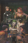 """Cover Thumbnail for Super Sons (2017 series) #1 [Unknown Comics Tyler Kirkham """"Joker, Catwoman and Ivy"""" Virgin Foil Variant]"""
