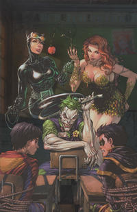 """Cover Thumbnail for Super Sons (DC, 2017 series) #1 [Unknown Comics Tyler Kirkham """"Joker, Catwoman and Ivy"""" Virgin Foil Variant]"""