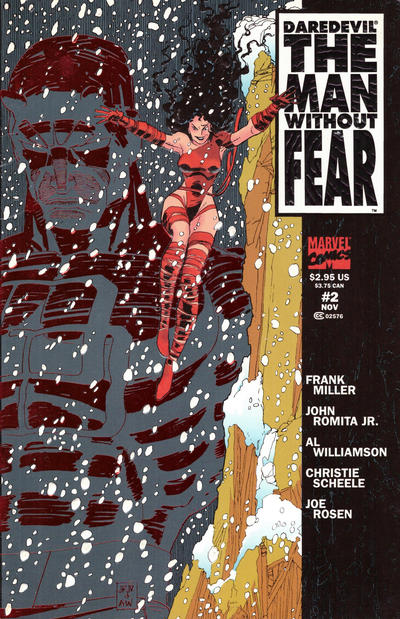 Cover for Daredevil The Man without Fear (Marvel, 1993 series) #2 [Direct Edition]